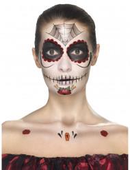 Kit de maquillaje princesa araña mujer Día de los muertos