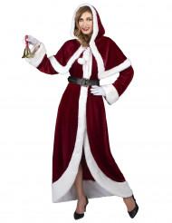 Disfraz de Mamá Noel super lujo adulto
