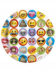 8 Platos de cartón Emoji™ 23cm