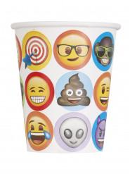 8 Vasos de cartón Emoji™ 270 ml