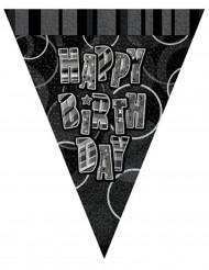 Guirnalda banderines grises Happy Birthday 274 cm