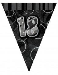 Guirnalda banderines grises edad 18 años 274 cm