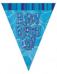 Guirnalda banderines azules Happy Birthday 274 cm