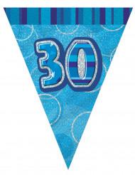 Guirnalda banderines azules edad 30 años 274 cm