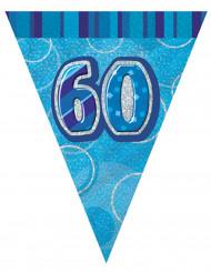Guirnalda banderines azules edad 60 años 274 cm