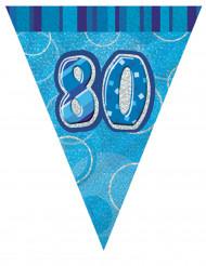 Guirnalda banderines azul 80 años 2,74 m