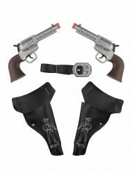 2 pistolas de vaqueros con estuche niño