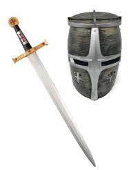 Espada y casco caballero guerrero niño