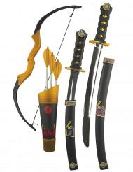 Kit accesorios armas con arco ninja niño