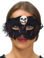 Antifaz tela con calavera mujer Halloween