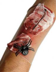 Manguito herida de araña adulto Halloween