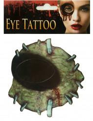Tatuaje para ojo zombie adulto Halloween