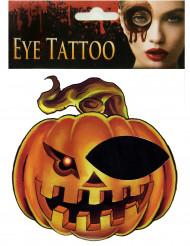 Tatuaje para ojo calabaza adulto Halloween