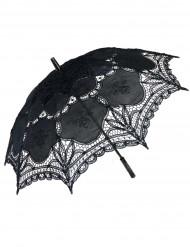 Sombrilla de puntilla negra lujo
