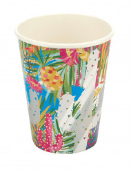 8 Vasos de cartón tropical metalizado