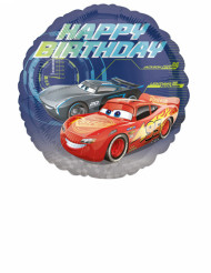 Globo aluminio Happy Birthday Cars 3™ 43 cm