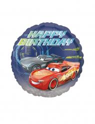 Globo aluminio Happy Birthday Cars 3™ 43 cm