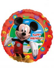 Globo aluminio Happy Birthday Mickey™ 43 cm
