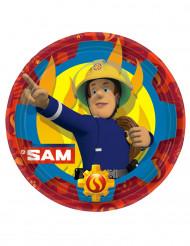 8 platos de cartón Sam el bombero™ 23cm