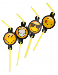 8 Pajitas Smiley Emoticonos™