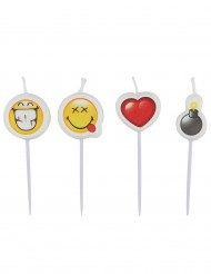 4 mini velas Smiley Emoticons™