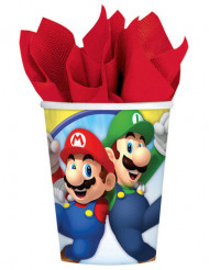 8 Vasos de cartón Super Mario™ 266 ml