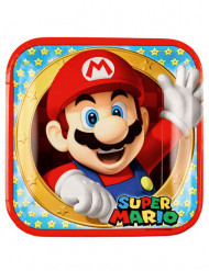 8 Platos de cartón Super Mario™ 23 cm