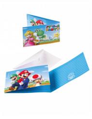 8 Invitaciones y sobres Super Mario™