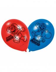 6 Globos de látex Super Mario