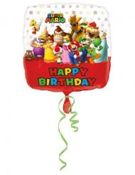 Globo de aluminio Happy Birthday Mario bros™ 43cm