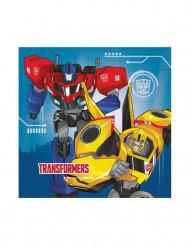 20 Servilletas de papel 33x33 Transformers Robots in Disguise™