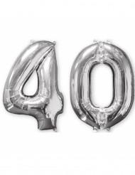 Lote de 2Globos aluminio 66cm número 40