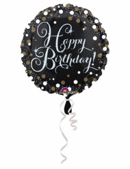 Globo de aluminio Happy Birthday brillante 43cm