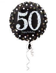 Globo aluminio Happy Birthday brillante 50-45cm.