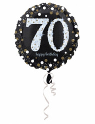 Globo aluminio 45 cm Happy Birthday brillante 70