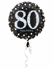 Globo aluminio 45 cm Happy Birthday brillante 80