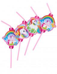 8 Pajitas unicornio
