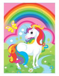 8 Bolsas de unicornio arcoíris plástico