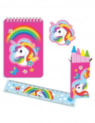 Set de papelería unicornio 20piezas