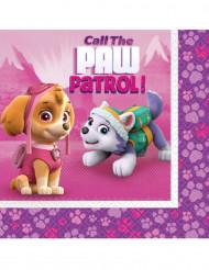 20 Servilletas de papel 33x33 cm rosa Patrulla Canina™