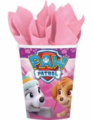 8 Vasos de cartón 266 ml rosa Patrulla Canina