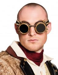 Gafas cyberpunk dorado adulto Steampunk