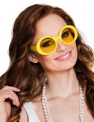 Gafas disco amarillas para adulto