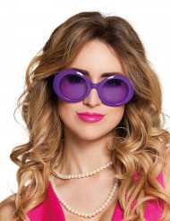 Gafas disco color violeta adulto