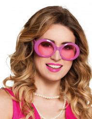 Gafas disco rosa adulto