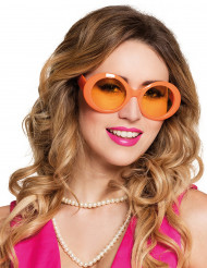 Gafas disco color naranja Adulto