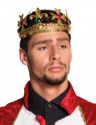 Corona de rey con joyas falsas adulto