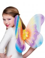 Alas mariposa multicolor 40x50 cm niña