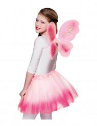 Alas y tutú rosa pastel mariposa niña