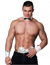 Cuello y manguitos striptease sexy hombre